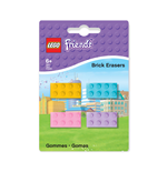 LEGO Friends pack 4 gommes
