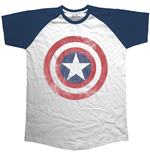 T-shirt Marvel Comics - Avengers Assemble Distressed Shield