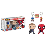 Captain America Civil War pack 4 POP! Marvel Vinyl figurines & porte-clés 9 cm