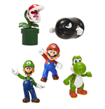 Super Mario World of Nintendo pack 5 figurines Vinyl 6 cm Classic