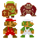 World of Nintendo pack 5 figurines Vinyl 6 cm Retro 8-Bit