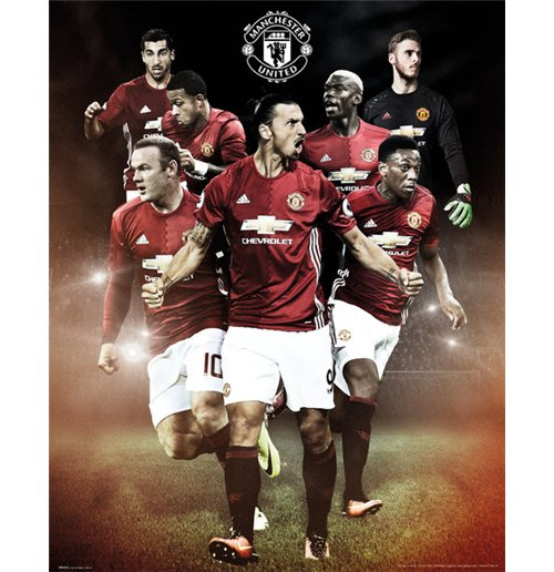 Poster Mini Manchester United - Players 16/17 (40x50 Cm)
