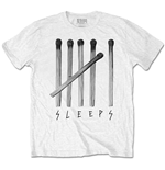 T-shirt While She Sleeps pour homme - Design: Matches
