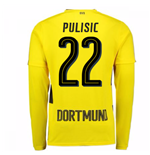 Maillot Manches Longues Borussia Dortmund Home 2017-2018 (Pulisic 22)