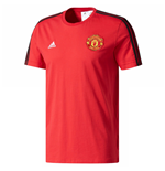 T-shirt Manchester United FC Adidas 3S 2017-2018 (Rouge)