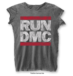T-shirt Run DMC: DMC Logo with Burn Out Finishing