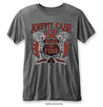 T-shirt Johnny Cash pour homme - Design: Ring of Fire