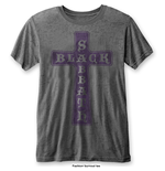 T-shirt Black Sabbath: Vintage Cross with Burn Out Finishing