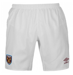 Short West Ham United 2017-2018 Home (Blanc)