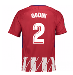 Maillot de Football Atlético de Madrid Home 2017-2018 (Godin 2)