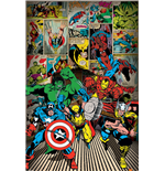 Poster Marvel Superheroes - Here Come The Heroes