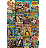 Poster Marvel Comics Iron Man - Covers