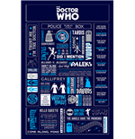 Poster Doctor Who - Infographic