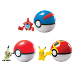 Pokemon assortiment Clip´n´Carry Poké Ball Wave D10 (6)