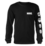 T-shirt Manches Longues Marvel Comics - Stacked Heads