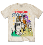 T-shirt The Rolling Stones: Mick & Keith Watercolour Stars