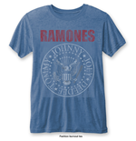 T-shirt Ramones: Presidential Seal with Burn Out Finishing