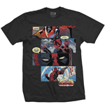 T-shirt Marvel Superheroes pour homme - Design: Deadpool Strips