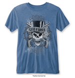 T-shirt Guns N' Roses: Faded Skull with Burn Out Finishing