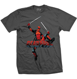 T-shirt Marvel Superheroes pour homme - Design: Deadpool Logo Jump