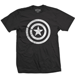 T-shirt Marvel Comics: Captain America Civil War Basic Shield Distressed