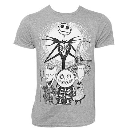 T-shirt Nightmare Before Christmas - Group