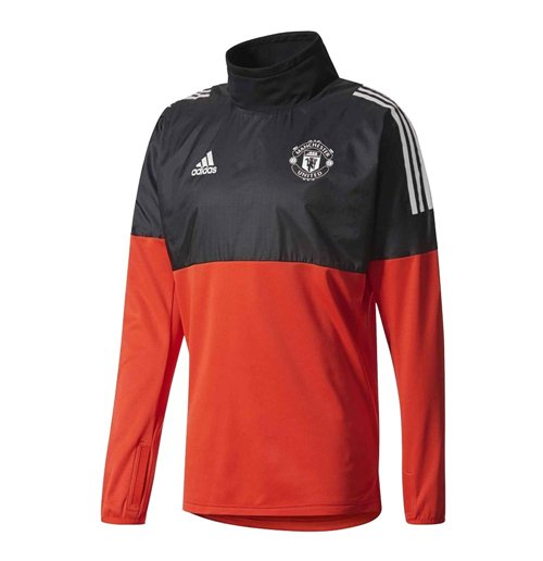 sweat shirt manchester united fc 2017 2018 rouge pour seulement 89 62 sur merchandisingplaza. Black Bedroom Furniture Sets. Home Design Ideas