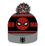 Spider-Man bonnet Knitted Logo & Face