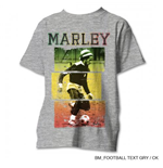 T-shirt Bob Marley pour homme - Design: Rasta Football