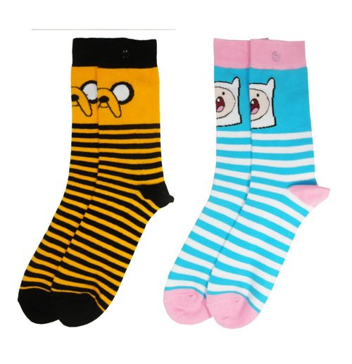 Adventure Time pack 2 paires de chaussettes femme Jake & Finn