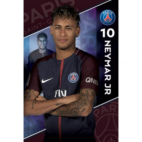 Poster Paris Saint-Germain - Neymar 10