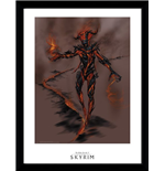 Photo Encadrée Skyrim - Flame Atronarch (30x40 Cm)