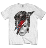 T-shirt David Bowi: Halftone Flash Face