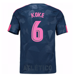 Maillot de Football Atlético de Madrid Third 2017-2018 (Koke 6)