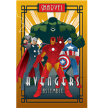 Poster Marvel Deco - The Avengers
