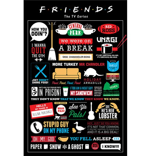 Poster Friends - Infographic