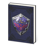 Legend of Zelda carnet de notes Premium A5 Metal Shield