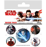 Star Wars Episode VIII pack 5 badges Characters