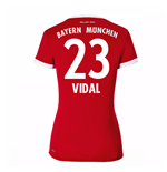 Maillot de Football Bayern Munich Home 2017-2018 (Vidal 23) - Femmes