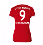 Maillot de Football Bayern Munich Home 2017-2018 (Lewandowski 9) - Femmes