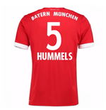 Maillot de Football Bayern Munich Home 2017-2018 (Hummels 5)