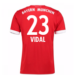 Maillot de Football Bayern Munich Home 2017-2018 (Vidal 23) - Enfants