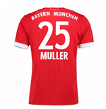 Maillot de Football Bayern Munich Home 2017-2018 (Muller 25) - Enfants