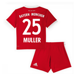 Tenue de Football Mini Kit Bayern Munich Home 2017-2018 (Muller 25)