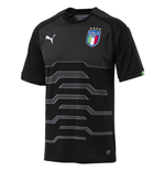 T-shirt Italie Football 2018-2019 Home (Noir)