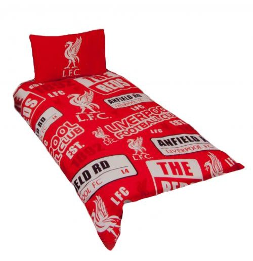 housse de couette 1 place liverpool fc pour seulement 31. Black Bedroom Furniture Sets. Home Design Ideas