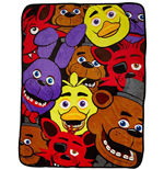 Five Nights at Freddy's couverture polaire Characters 122 x 153 cm