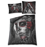 Housse de Couette Double Spiral - Skull Roses