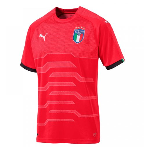 Maillot Gardien de But Italie Puma Away 2018-2019 (Rouge)