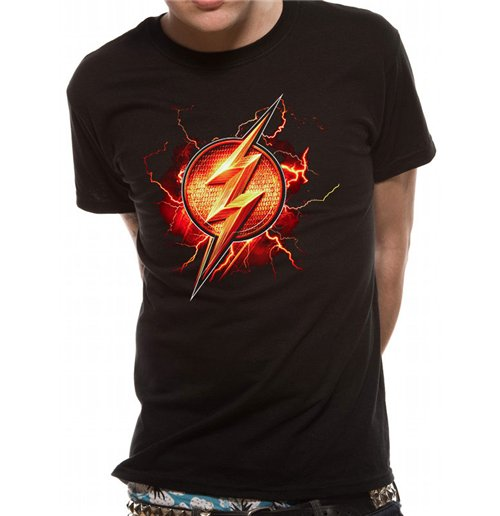 T-shirt Film Justice League - Flash Symbol